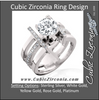 Cubic Zirconia Engagement Ring- The ________ Naming Rights 1297 (2 CT Round Cathedral Style with Multi-Split Pave Band and Bar Setting Accents)