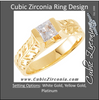 Cubic Zirconia Engagement Ring- The Cassie (0.5 Carat Princess-Cut Channel Solitaire with Hand-Engraved Firefly Motif)