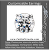 Cubic Zirconia Earrings- Customizable 4 Prong Pre-Notched Round Solitaire Stud Earring Set