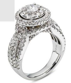 Cubic Zirconia Engagement Ring- The ________ Naming Rights 1263 (3.50 TCW Twisted Braid Round Halo Pave with Ultra Wide Band)