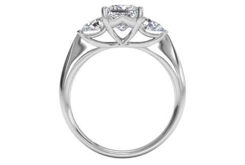 Cubic Zirconia Engagement Ring- The ________ Naming Rights 1289 (1.40 TCW 3-Stone with Princess and Pear Cut)
