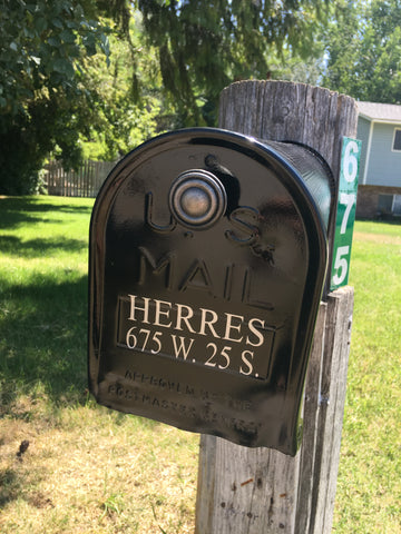 Mailbox Custom Last Name with Address Decal