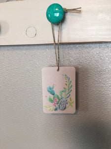 Cactus Air Freshener -You Pick Scent