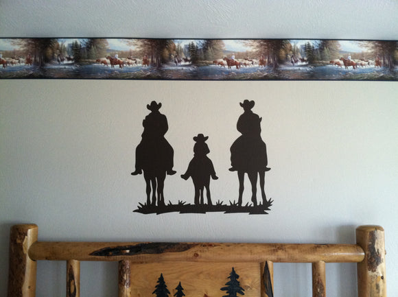Family Riding Horses Vinyl Decal