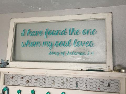 I Have Found The One Whom My Soul Loves Song Of Solomon 3:4 KJV - Wall Decal