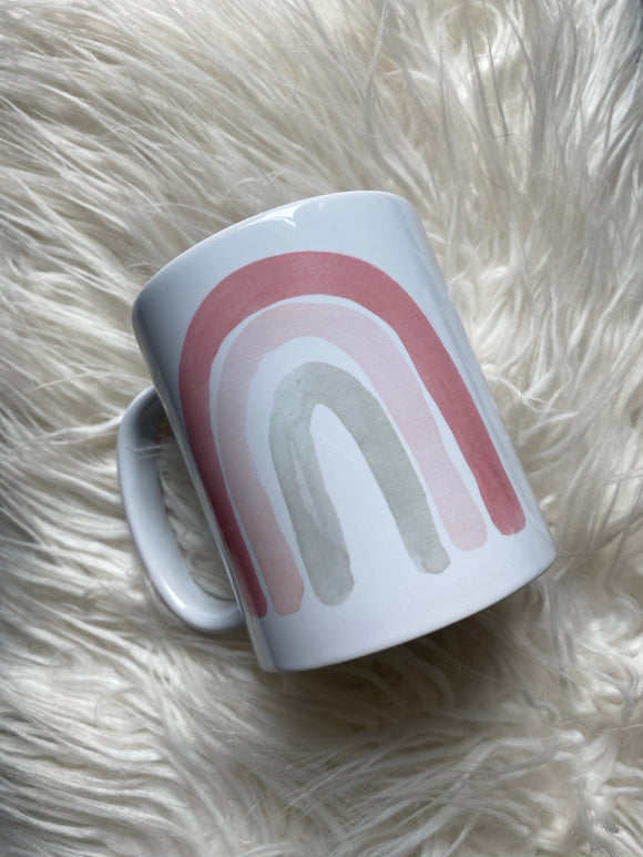 Watercolor Rainbow Mug