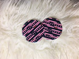 Geometric Pink and Blue Sandstone Coasters -Set of 2