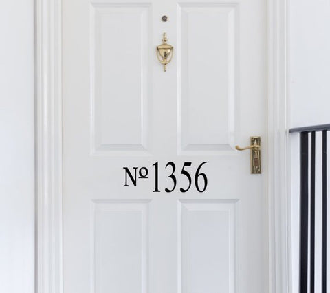 Door Numbers - Custom Vinyl Decal