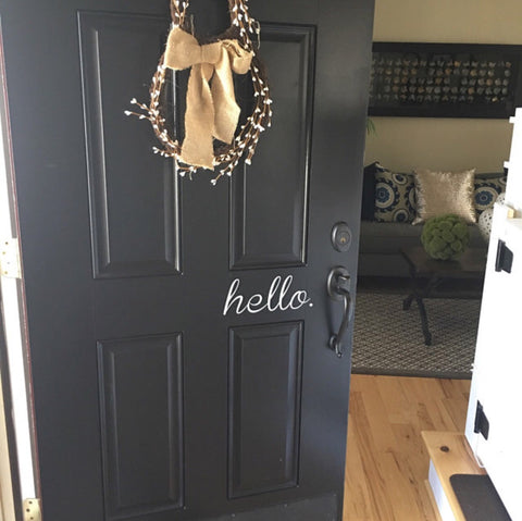 Hello. Vinyl Decal, Door Decal