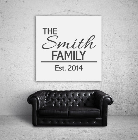Last Name with Est. Year Wall Decal