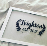 Custom Last Name with Ferns Decal