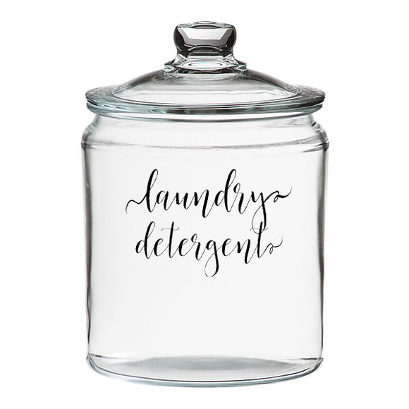 Laundry Detergent Jar Decal