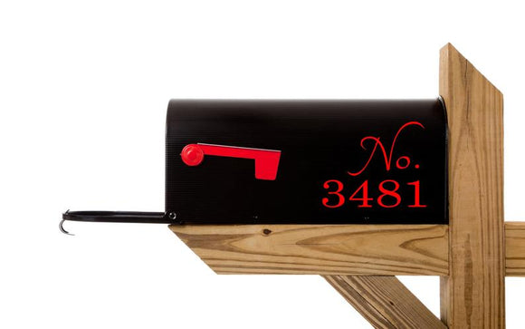 Mailbox Numbers Vinyl Decal