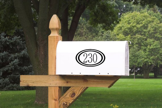 Mailbox Numbers - Reflective Vinyl - Set of 2