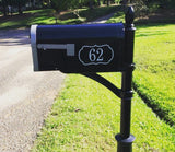 Mailbox Numbers with Frame Vinyl Decal