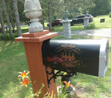 Mailbox Last Name with Vintage Frame Decal