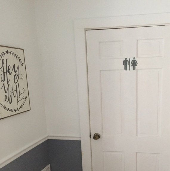 Men/Women Bathroom Symbol - Vinyl Decal