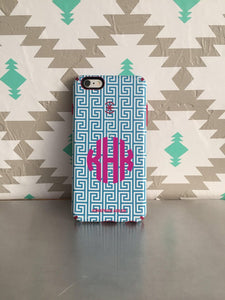 Monogram Vinyl Decal for Cell Phones