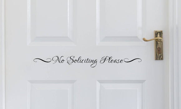 No Soliciting Please Vinyl Decal