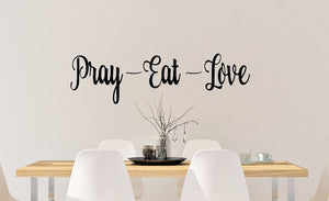 Pray Eat Love Decal