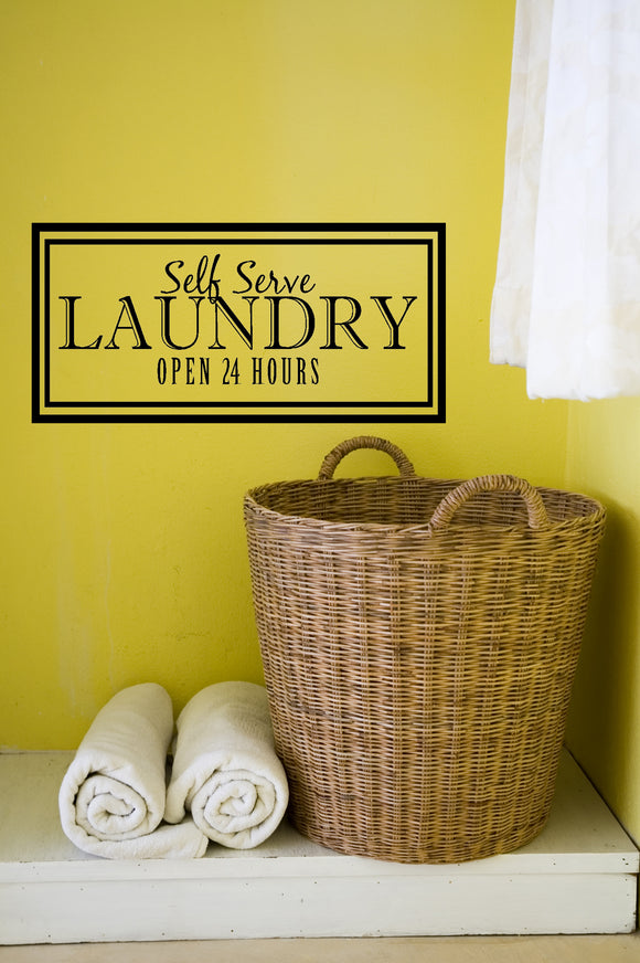 Self Serve Laundry Decal