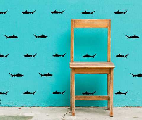 Shark Wall Decals - Set of 30 - Peel and Stick
