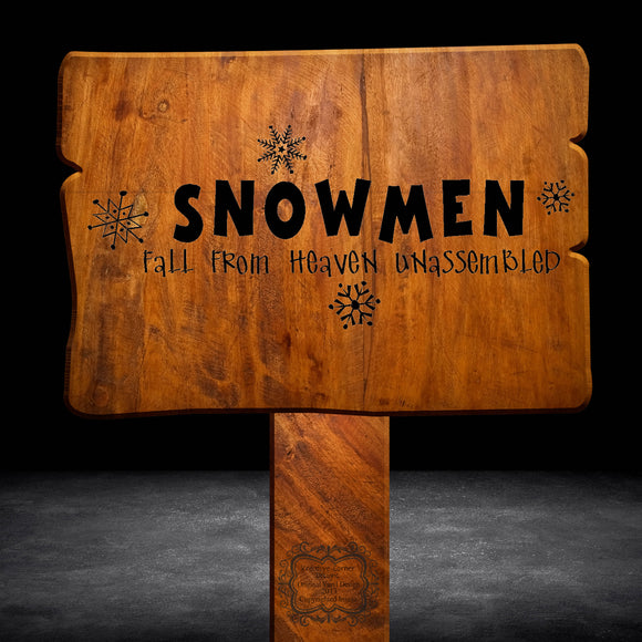 Snowmen Fall From Heaven Unassembled Wall Decal