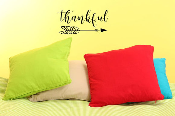 Thankful with Arrow - Vinyl Decal
