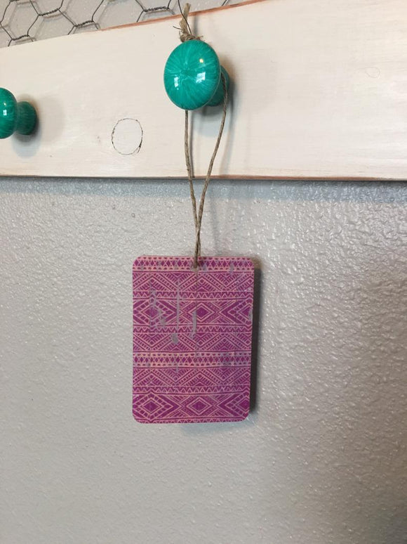 Tribal Purple-Pink Air Freshener - Butt Naked Scent