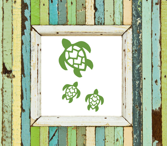 Turtles Set Of 3-Vinyl Decal