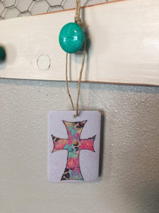 Cross Watercolor Air Freshener - Butt Naked Scent