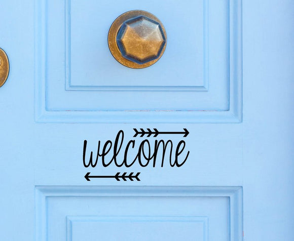 Welcome with arrow Vinyl Decal