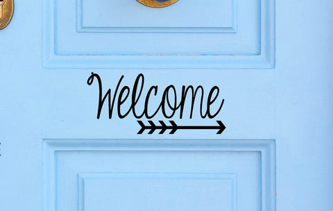 Welcome with Arrow - Vinyl Decal