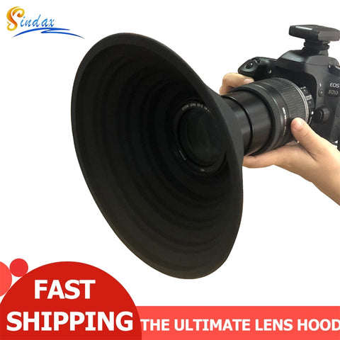 Reflection-Free Camera Lens Hood