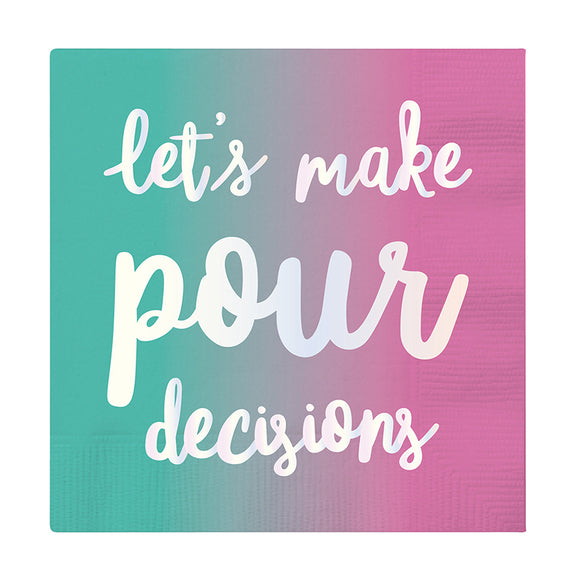 MAKE POUR DECISIONS BEVERAGE NAPKINS