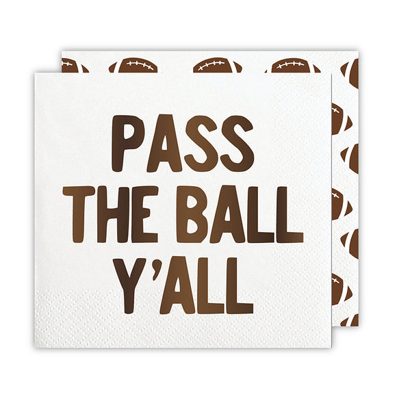 PASS THE BALL Y'ALL NAPKIN