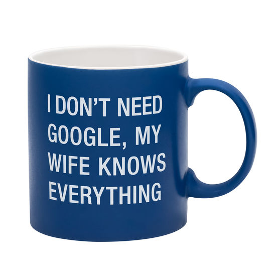 WIFE KNOWS EVERYTHING MUG