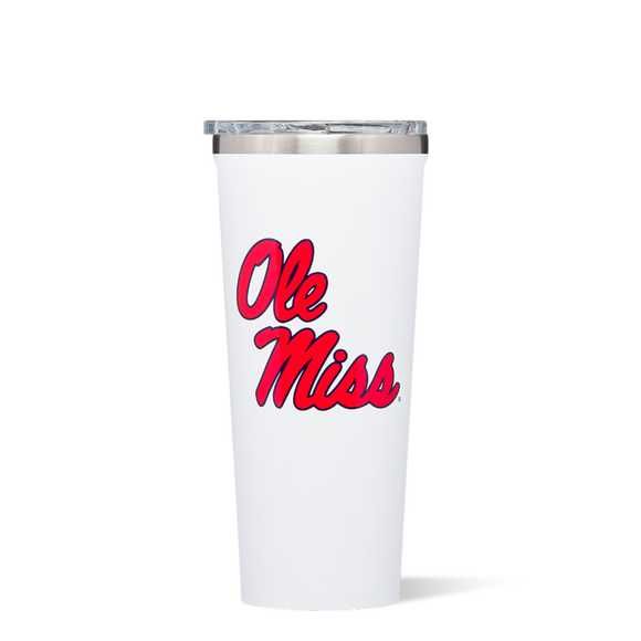 24oz OLE MISS WHITE TUMBLER