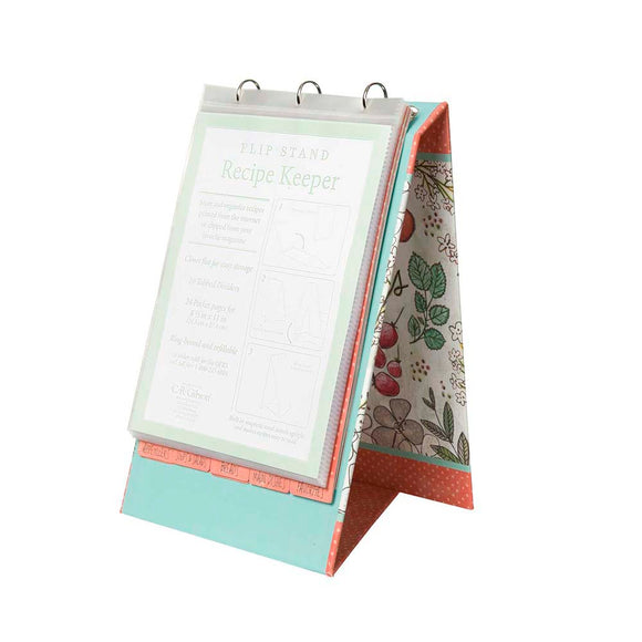 VERTICAL REFILLABLE RECIPE BOOK - FRUIT FUSION