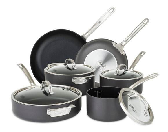 VIKING NON-STICK 10 PC SET, HARD ANODIZED