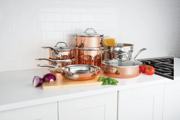 VIKING 13 PC COOKWARE SET, COPPER