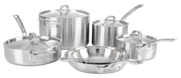 VIKING 10PC COOKWARE SET, 5 PLY