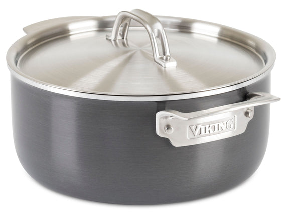 VIKING 5 QT DUTCH OVEN, HARD STAINLESS