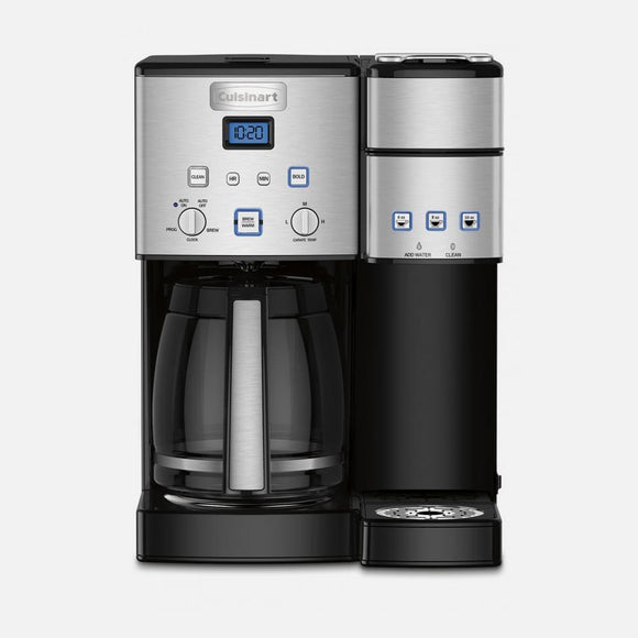 CUISINART 12 CUP COFFEEMAKER AND SINGLE-SERVE BREWER
