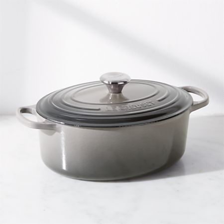 5 QT OVAL DUTCH OVEN OYSTER GREY