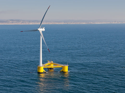 Marine Wind Turbines with Floating Bases