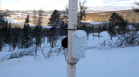 Cold and snow weather for wind logger