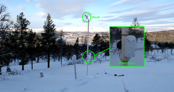 Norway cold wind speed measurement