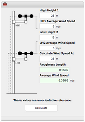 Two heights wind speed