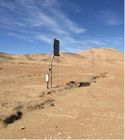 Windlogger in the desert